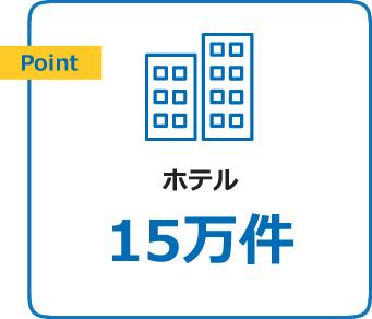 Pointホテル15万件